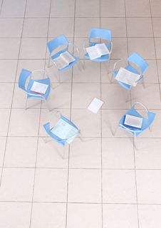 Free Chairs In An Empty Space Stock Photo - 9390820