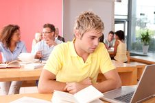 Free Portrait Of Male Student Stock Image - 9390951
