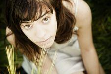 Free Young Woman Staring At Camera Stock Photography - 9393242
