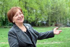 Free Happy Senior Woman Royalty Free Stock Photos - 9393388