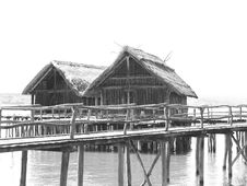 Free Stone Age Lake-Dwellings Stock Images - 9394324