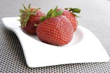 Three Strawberries Royalty Free Stock Image