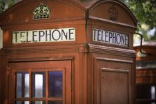 Free Red Telephone Box Royalty Free Stock Photos - 9394778