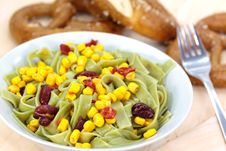 Free Green Pasta Salad With Corn And Kidney Beans Royalty Free Stock Photo - 9395635