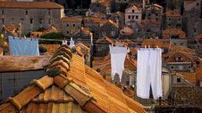 Dubrovnik Laundry Royalty Free Stock Images