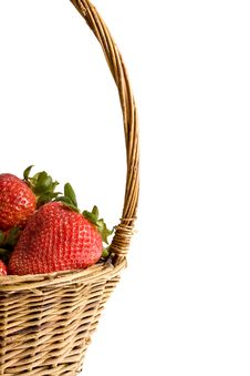 Free Strawberry In The Basket Stock Images - 9395924