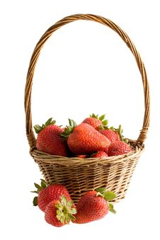 Free Strawberry In The Basket Royalty Free Stock Image - 9395926