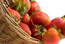 Free Strawberry In The Basket Stock Image - 9395931