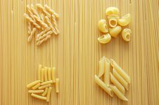 Free Four Different Kinds Of Italian Pasta Stock Photography - 9396072