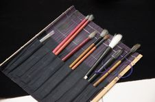 Chinese Calligraphy Brush Set Stock Image