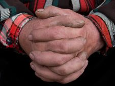 Free Labour Hands Of The Old Person Stock Image - 9396361