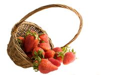 Free Strawberry In The Basket Stock Photography - 9396392