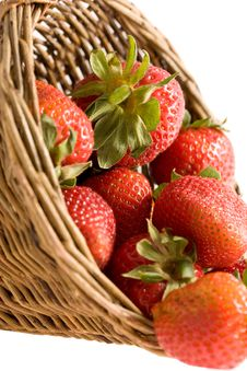 Free Strawberry In The Basket Royalty Free Stock Photo - 9396405