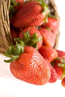 Strawberry In The Basket Stock Image