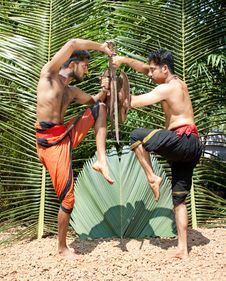 Kalarippayat, Indian Ancient Martial Art Of Kerala Royalty Free Stock Photos
