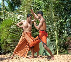 Free Kalarippayat, Indian Ancient Martial Art Of Kerala Stock Images - 9397034