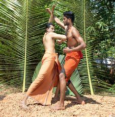 Free Kalarippayat, Indian Ancient Martial Art Of Kerala Royalty Free Stock Image - 9397036