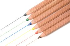 Free Six Pencils Stock Image - 9397241