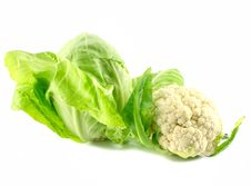 Free Cauliflower And Cabbage Isolated Stock Photos - 9397933
