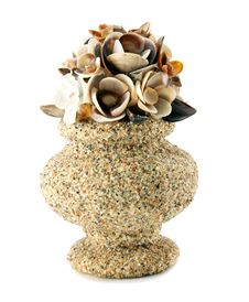 Free A Sea-shell Vase Isolated Royalty Free Stock Image - 9398436