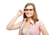 Free Woman In Sunglasses Royalty Free Stock Image - 9398586