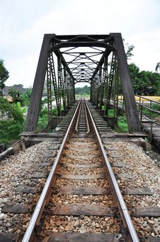 Free Iron Bridge Long Rail Stock Image - 9398871