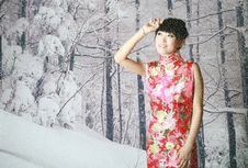 Free Chinese Girl In The Snow Scenes Royalty Free Stock Images - 9399579