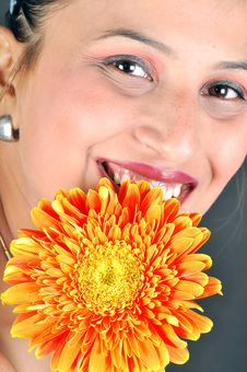 Free Girl With Flower Stock Photos - 9399663