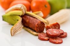 Free Sausage In A Banana Peel  Stock Photography - 93948542