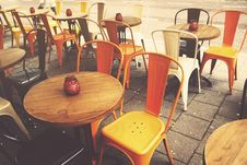 Free Empty Cafe Tables Stock Image - 93999631