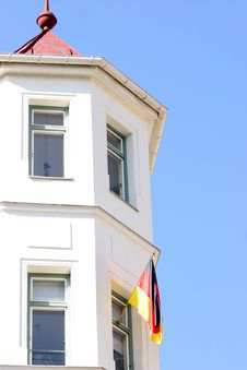 Free Flag In The Window Royalty Free Stock Photo - 940025