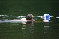 Free Lake Swimmer Stock Photography - 940092