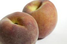 Two Peaches Stock Photo