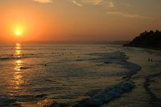 Sunset In Oceanside Stock Photo