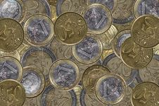 Free Euro Coin Background Stock Image - 941731