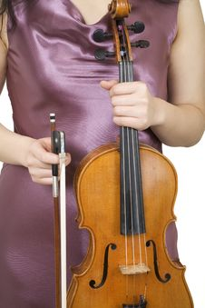 Free Violinist Closeup 1 Royalty Free Stock Photos - 941968