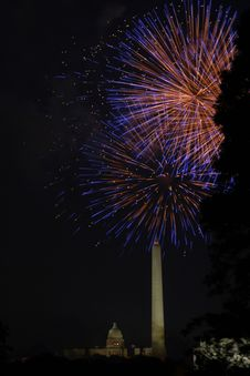 Free DC Fireworks Royalty Free Stock Photos - 943538