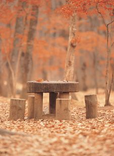 Free Table And Chair Stock Image - 943801