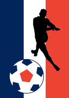Free Vector France Soccer Royalty Free Stock Photography - 947337