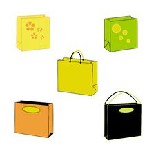 Free An Illustration Of Paperbags Royalty Free Stock Photos - 947388