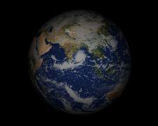 Free World Globe On Black002 Stock Image - 947811