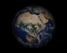 Free World Globe On Black004 Stock Images - 947854