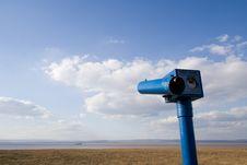 Beach Front Telescope Stock Photography