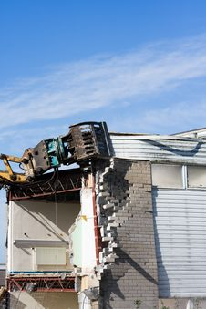 Free Building Being Demolished Stock Image - 947901