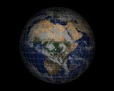 Free World Globe On Black005 Stock Image - 948121