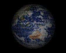 Free World Globe On Black007 Stock Image - 948181