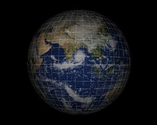 World Globe On Black008 Stock Photography
