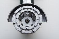 Free Angle Grinder With Concrete Diamond Wheel Royalty Free Stock Photos - 948278