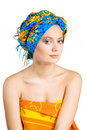 Free Beautiful Girl With In Colorful Clothes And Hat Royalty Free Stock Photos - 9402468