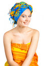 Free Beautiful Smiling Girl With In Colorful Clothes Royalty Free Stock Photography - 9402507